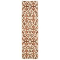 Runway Orange/ Ivory Hand-tufted Wool Rug (2'3' x 8')