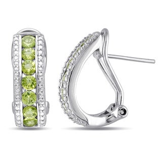 Miadora Sterling Silver 1 4/5ct TGW Peridot Earrings