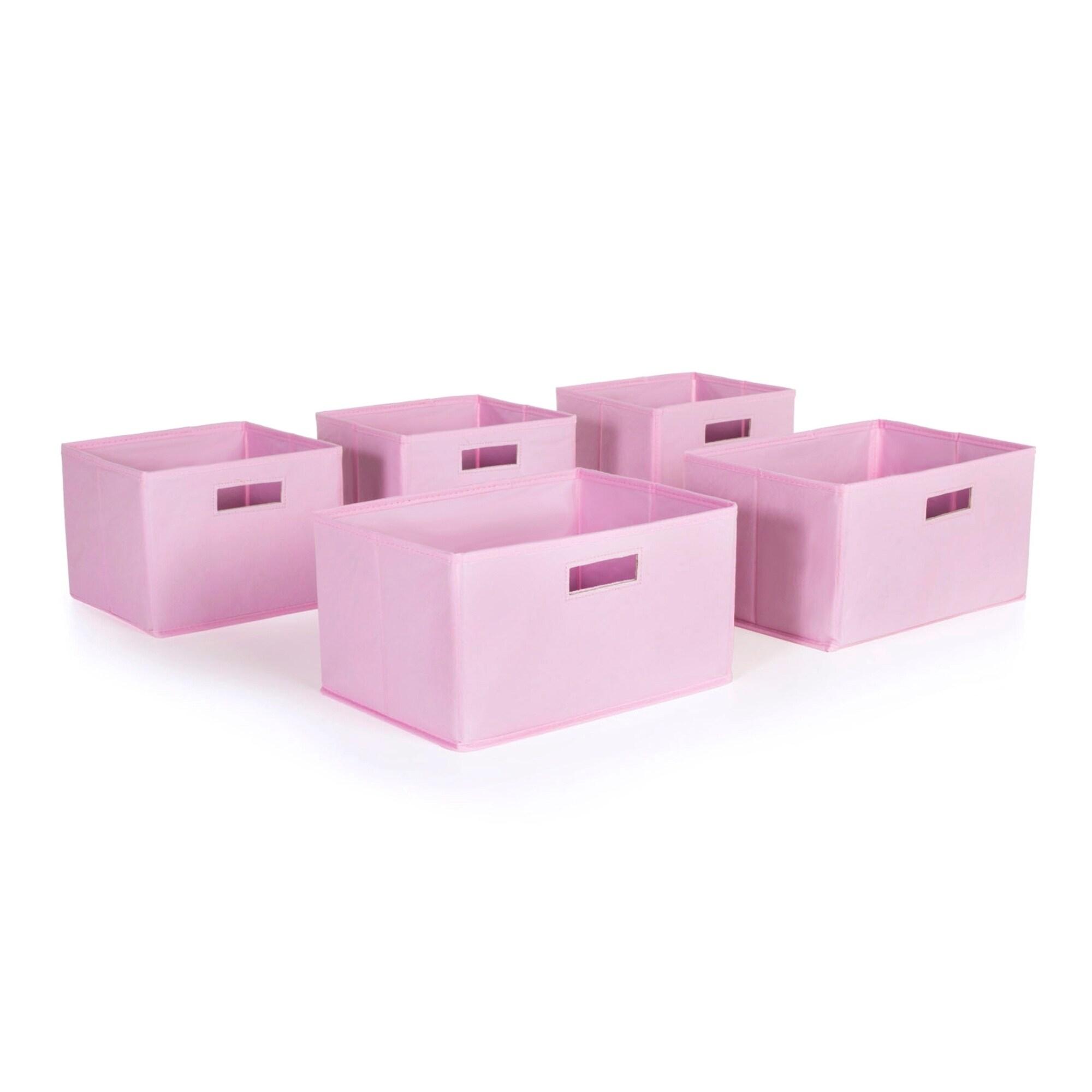 Guidecraft Pink Storage Bins (Set of 5) (Pink Storage Bin...