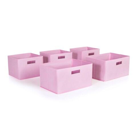 Pink Storage Bins (Set of 5)
