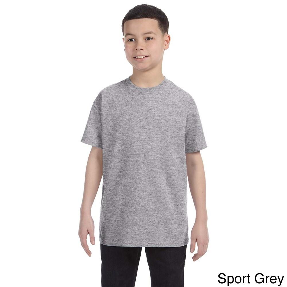 Gildan Gildan Youth Heavy Cotton T shirt Grey Size L (14 16)