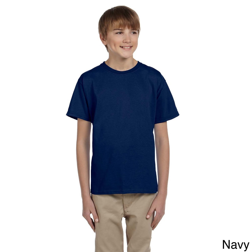 Gildan Gildan Youth Ultra Cotton 6 ounce T shirt Navy Size L (14 16)