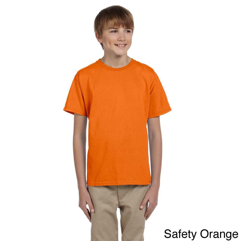 Gildan Gildan Youth Ultra Cotton 6 ounce T shirt Orange Size L (14 16)
