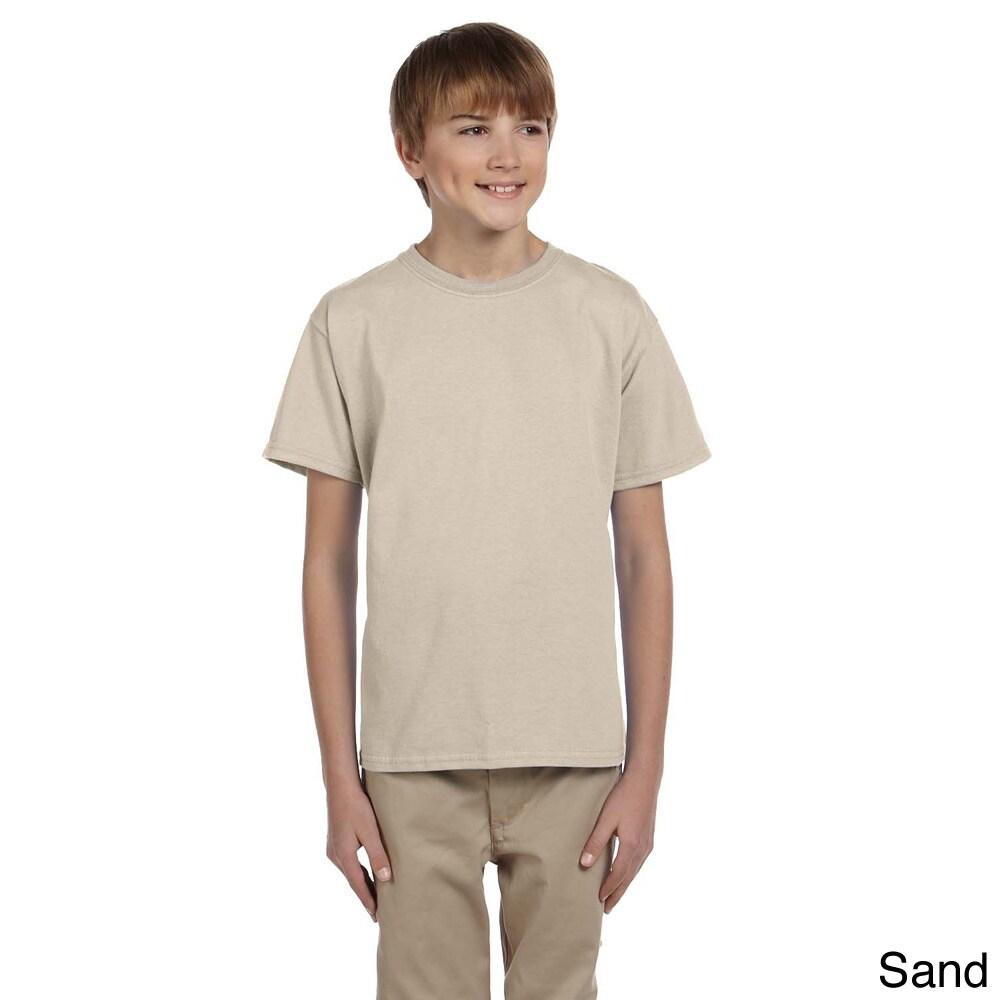 Gildan Gildan Youth Ultra Cotton 6 ounce T shirt Tan Size L (14 16)
