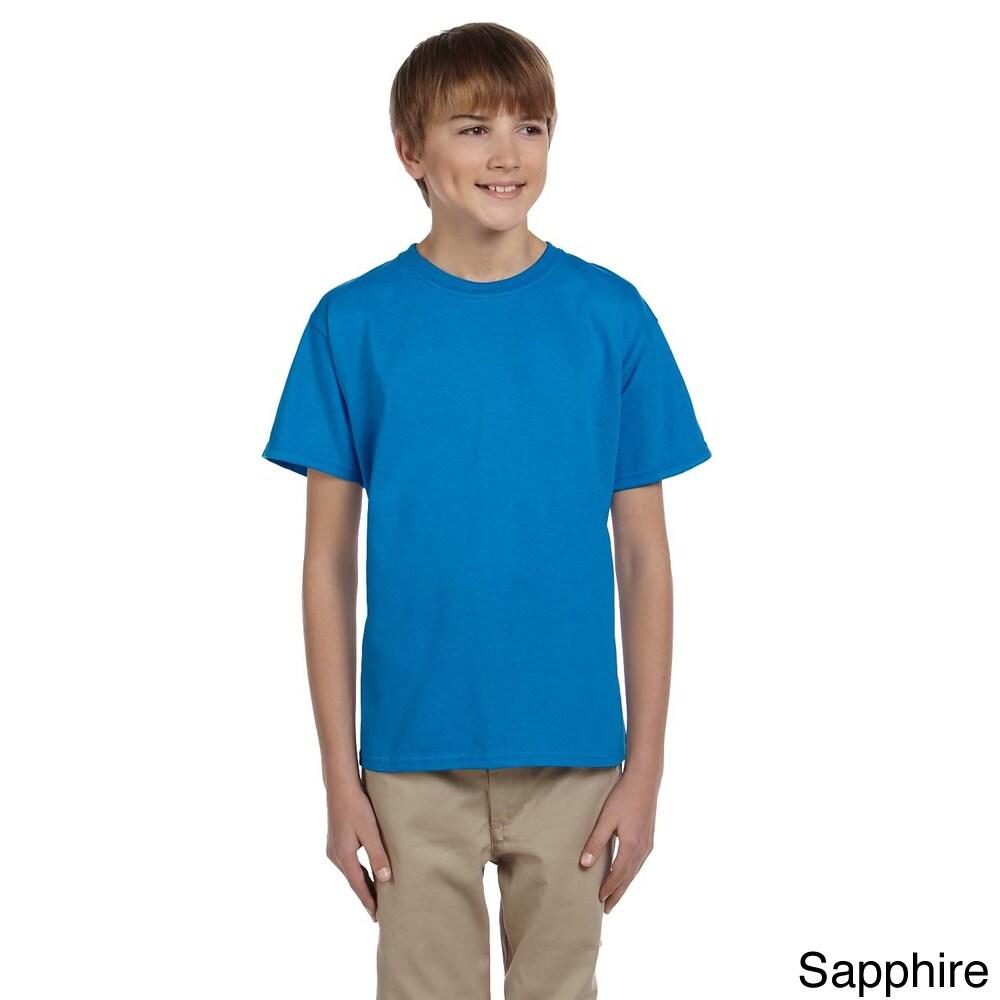 Gildan Gildan Youth Ultra Cotton 6 ounce T shirt Blue Size L (14 16)