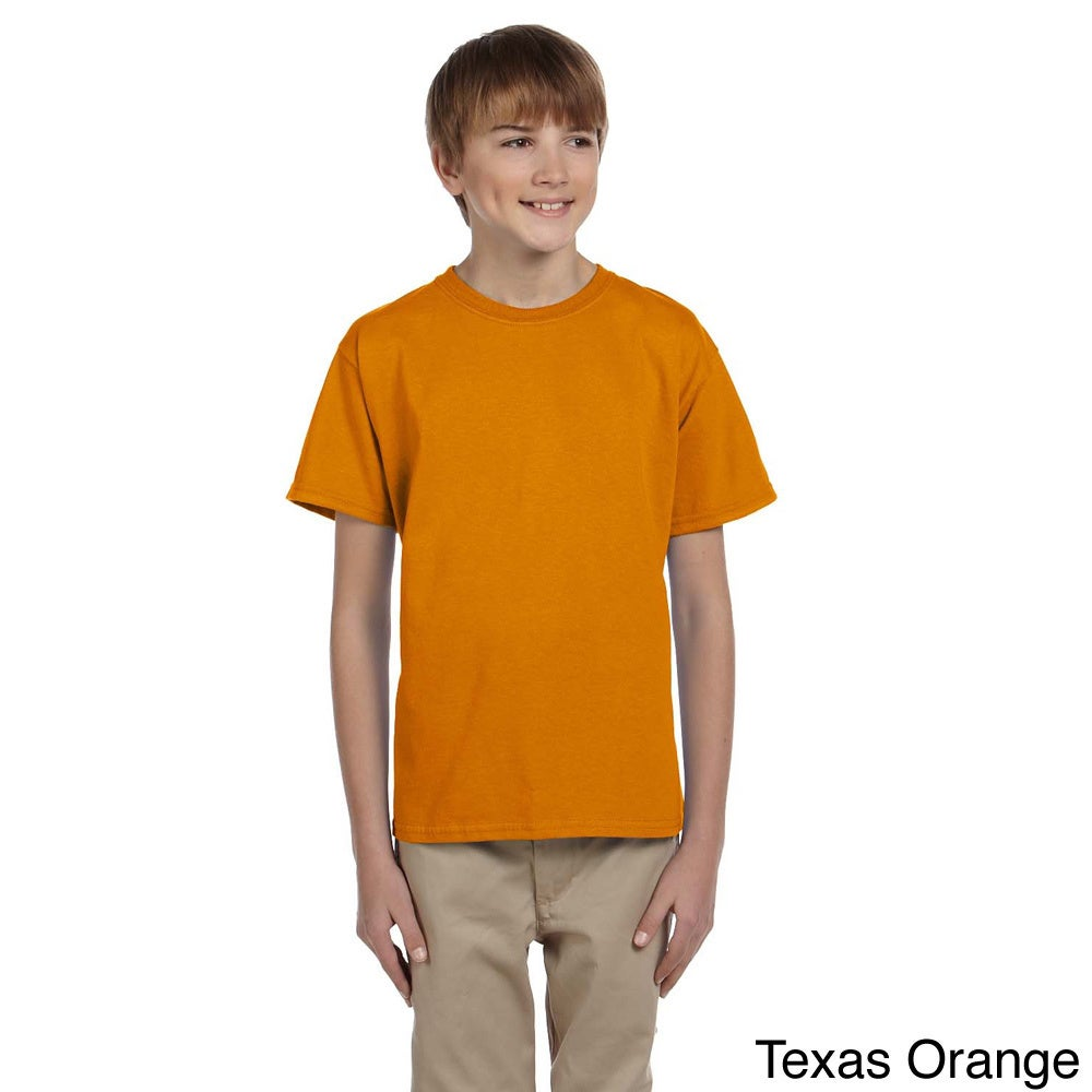 Gildan Gildan Youth Ultra Cotton 6 ounce T shirt Orange Size L (14 16)