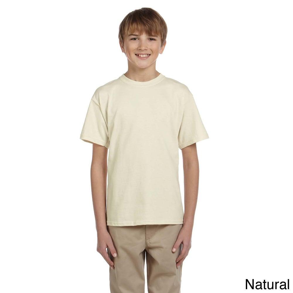 Gildan Gildan Youth Ultra Cotton 6 ounce T shirt Beige Size L (14 16)