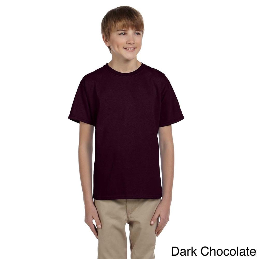 Gildan Gildan Youth Ultra Cotton 6 ounce T shirt Brown Size L (14 16)