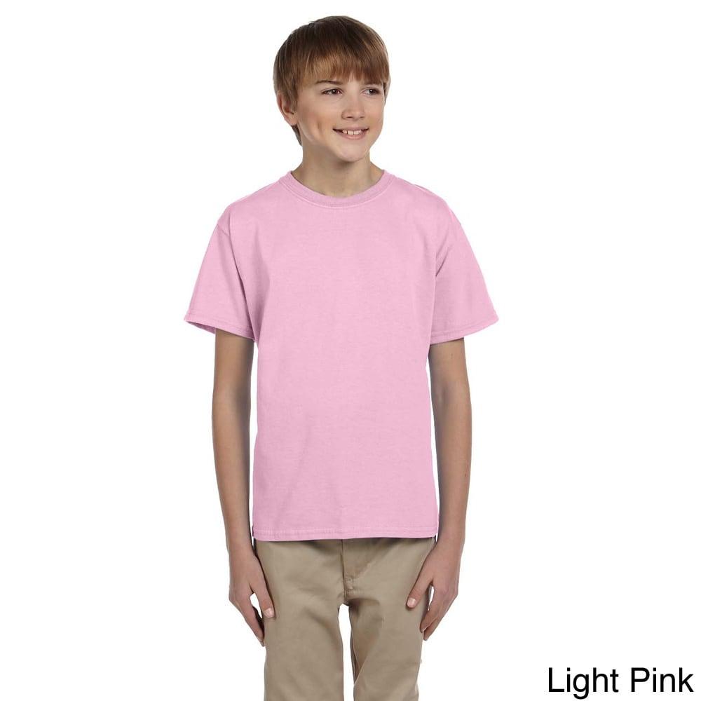 Gildan Gildan Youth Ultra Cotton 6 ounce T shirt Pink Size XS (4 6)