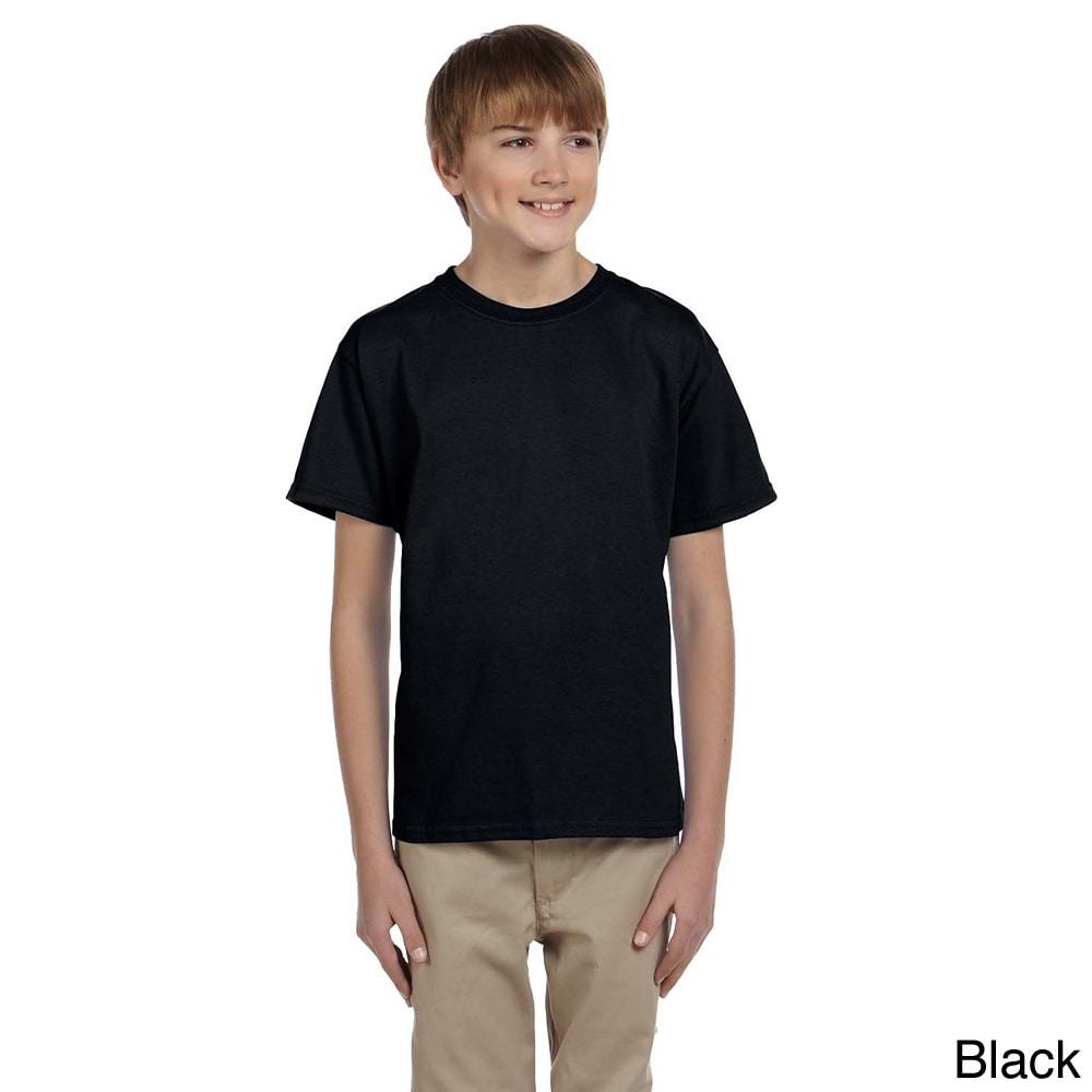 Gildan Gildan Youth Ultra Cotton 6 ounce T shirt Black Size XS (4 6)