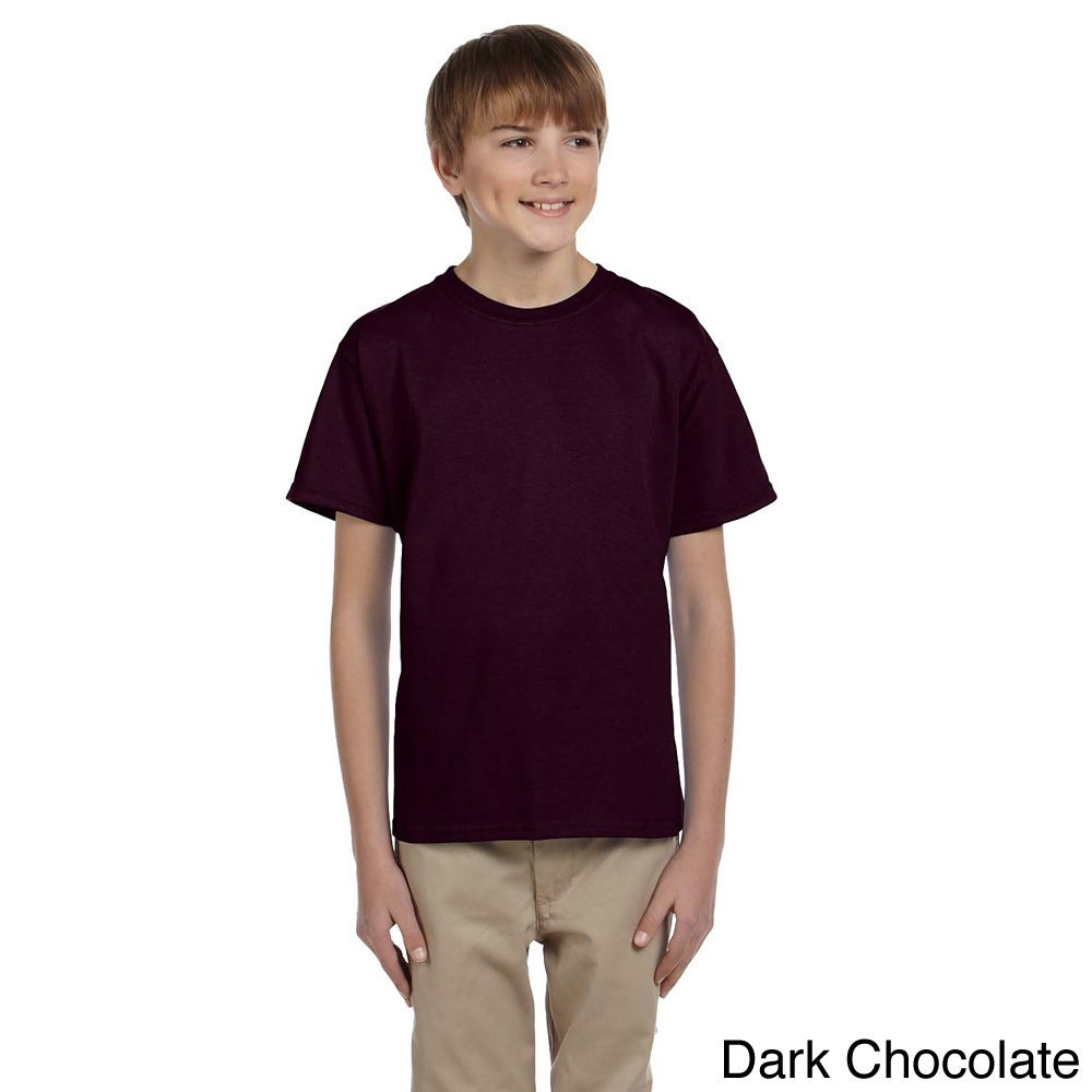 Gildan Gildan Youth Ultra Cotton 6 ounce T shirt Brown Size XS (4 6)