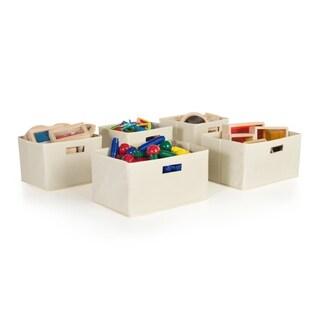 Tan Storage Bins (Set of 5)
