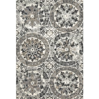 Grand Bazaar Power Loomed Polypropylene Perry Rug in Stone (10' x 13'2)