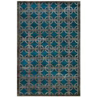 "Grand Bazaar Hand-knotted Wool and Viscose Tao Rug in Azure (5'6 x 8'6) - 5'-6"" x 8'-6"""
