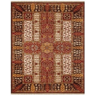 Grand Bazaar Hand-knotted Wool Pile Pietra Area Rug in Multi (5'6 x 8'6)