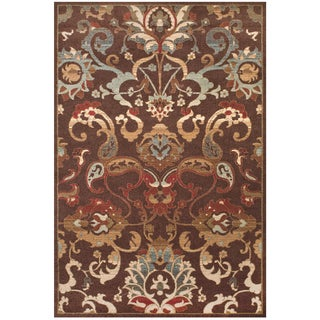 Grand Bazaar Power Loomed Polypropylene Atwood Rug in Chocolate 10' X 13'-2""