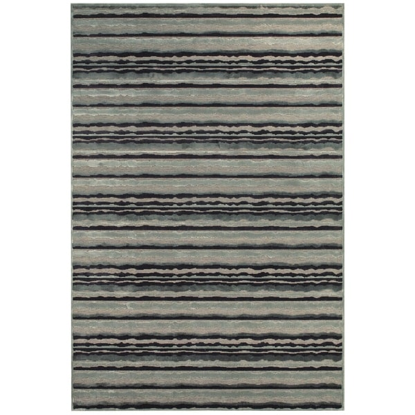 Grand Bazaar Viscose Bahari Area Rug in Gray/ Silver (5'3 x 7'6)