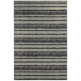 Grand Bazaar Viscose Bahari Area Rug in Gray/ Silver (5'3 x 7'6)