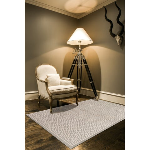 "Grand Bazaar Pellaro Rug in Pewter/Light Gray (5'3 x 7'6) - 5'3"" x 7'6"""