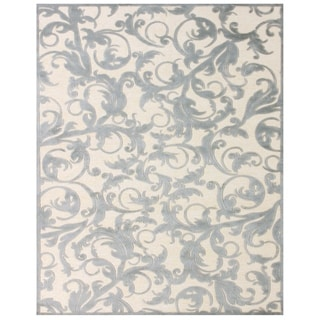 "Grand Bazaar Power Loomed Viscose Pellaro Rug in Cream / Silver 5'-3"" X 7'-6"" - 5'3"" x 7'6"""