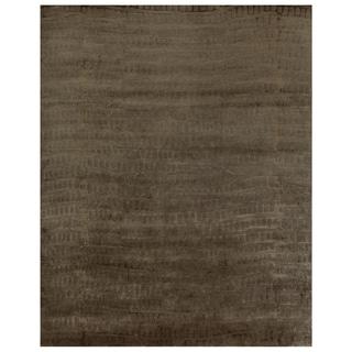 "Grand Bazaar Hand-knotted Wool & Art Silk Radiance Rug in Slate 5'-6"" x 8'-6"""