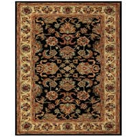 Grand Bazaar Tufted Wool Pile Adair Rug in Black/ Gold - 5' x 8'
