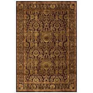 "Grand Bazaar Power Loomed Viscose Soho Rug in Dark Chocolate 5'-3"" X 7'-6"" - 5'3"" x 7'6"""