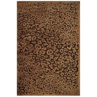 "Grand Bazaar Power Loomed Viscose Soho Rug in Dark Chocolate 5'-3"" X 7'-6"" - 5'-3"" x 7'-6"""