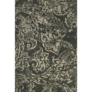 Grand Bazaar Tufted Wool Pile Glendora Rug in Grey/ Multi (5' x 8')