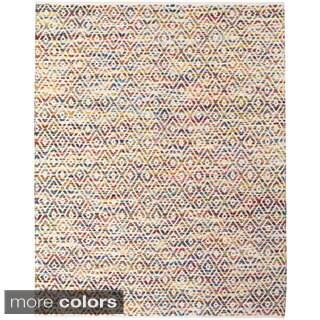 Grand Bazaar Hand Woven Wool & Cotton Boteh Rug in Multi 5' x 8'
