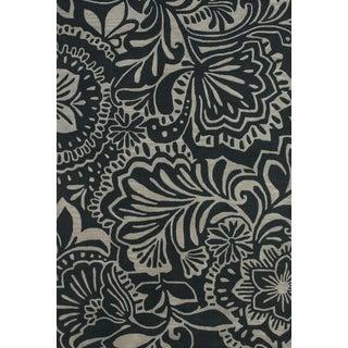 Grand Bazaar Tufted Wool Pile Terresa Rug in Grey/ Black (5' x 8') - 5' x 8'