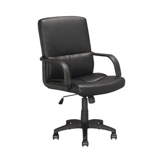 Black Leatherette Office Chair