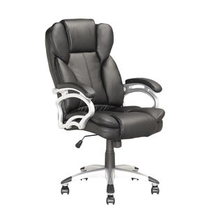 Executive Black Leatherette Office Chair