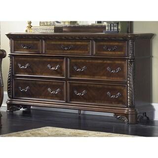 Rich Cognac 7-drawer Dresser