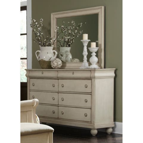 Rustic White Traditions 8-drawer Dresser