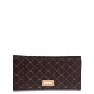 Rioni Signature Brown Half-fold Slim Wallet