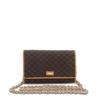 Rioni Signature Brown Mini Crossbody Clutch