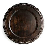 """ChargeIt Brown 14"""" Charger Plate"""