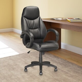 Executive Office Chair in Black Leatherette