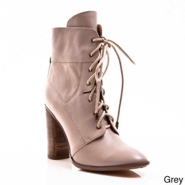 Envy Women's 'Galatea' Lace-up Ankle Booties