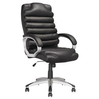 CorLiving LOF-509-O Executive Office Chair in Black Leatherette