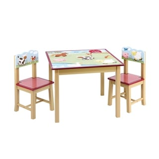 Farm Friends Table & Chairs Set