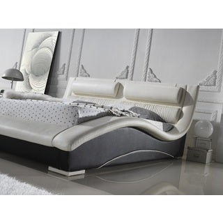 Napoli Two-tone Leatherette Platform Bed