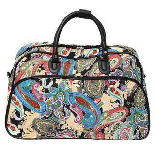 World Traveler Paisley Artisan 21-inch Carry On Shoulder Tote Duffle Bag