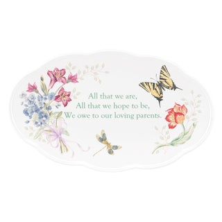 Shop Lenox Butterfly Meadow Bouquet Parent Wedding Plate