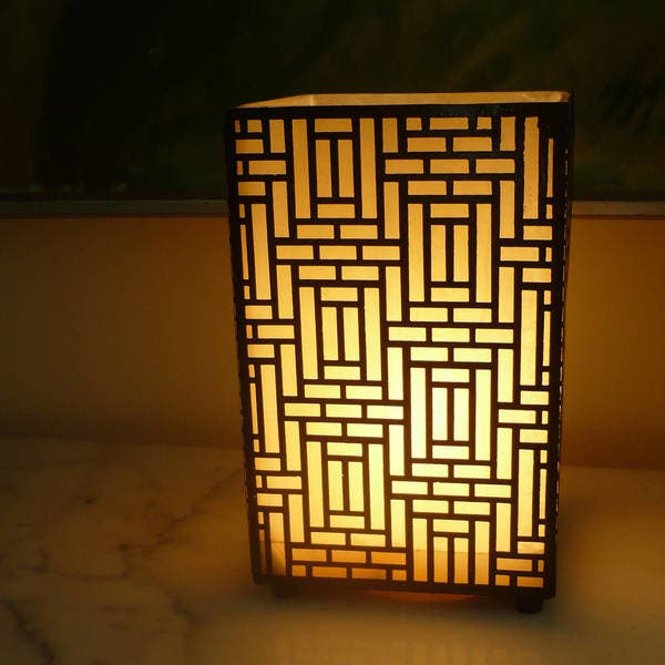 Handmade Ming Dynasty Alabaster Table Lamp Egypt