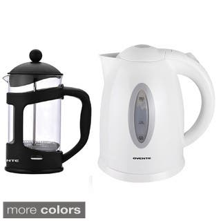 Ovente Cordless Electric Kettle with 34-ounce French Press Coffeemaker|https://ak1.ostkcdn.com/images/products/9109231/Ovente-Cordless-Electric-Kettle-with-34-ounce-French-Press-Coffeemaker-P16295353.jpg?impolicy=medium