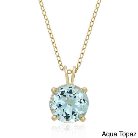 Dolce Giavonna Gold Over Silver Gemstone Birsthtone Necklace