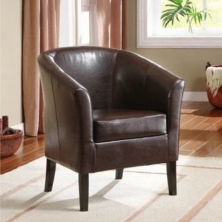 Porch & Den Mapleview Coffee Brown Upholstery Chair