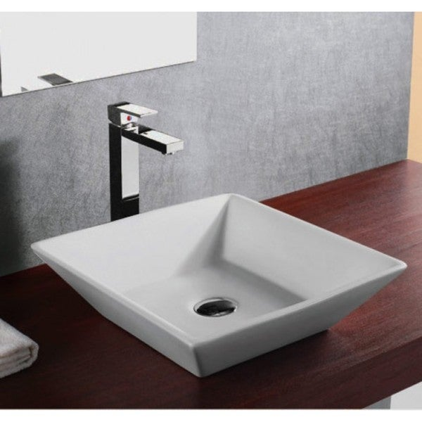 "16"" European Style Slope Wall Shape Porcelain Ceramic Bathroom Vessel Sink"